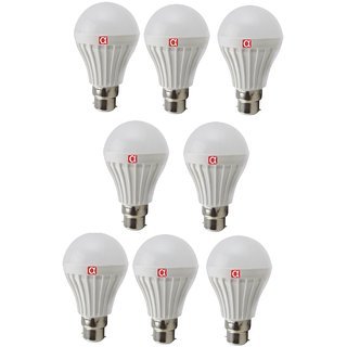 Alpha Home Illuminating Led Bulb Of 7 Watt Pack of 8