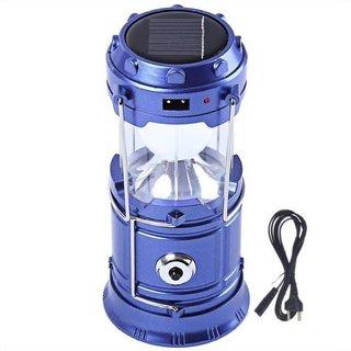 Alpha 6 Led Portable Metal Polished Rechargable Emergency Light Lamp Tent Lantern Solar Charging