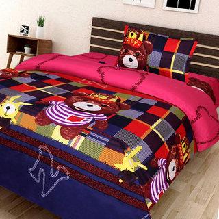 SASA HOMEZ 180 TC Polycotton Single 3D Printed Bedsheet (Pack of 1 Multicolor)