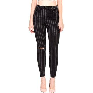 Kotty Women's Knee Slash Black Jeans