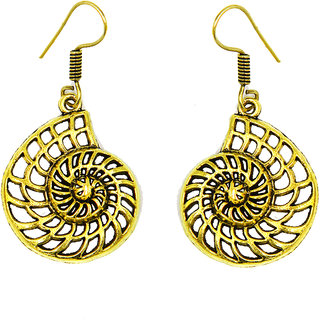 Antique Gold Platted Round Shape Earring