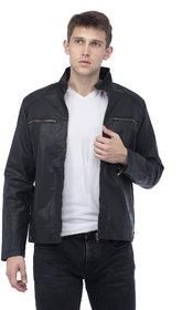 Lambency Men's Black Biker Jackets