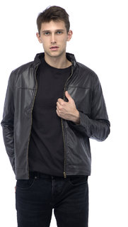 Lambency Men's Brown Biker Jackets