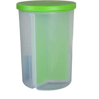 3 Sections Box Container with Lid for Kitchen Food Rice and Other Grain Storage Jar 1500 Ml 9X12X23 cm