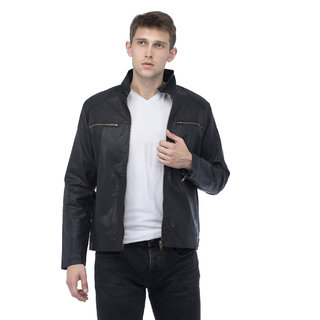 Lambency Men's Black Biker Jackets