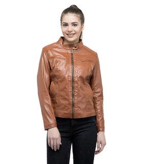 Lambency Women's Brown Casual Jackets