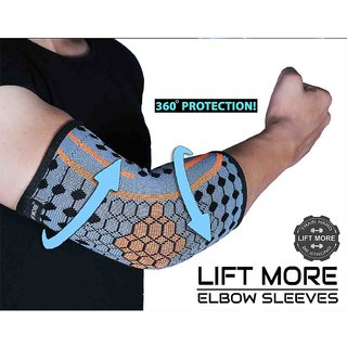 LIFT MORE ELBOW SUPPORT-Reduce Joint Pain During Any Activity (One Pair)(Large)