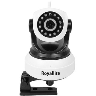 Royallite Wireless HD IP WiFi CCTV Indoor Security Camera - Grey  White / Motion / Alarm / Day-Night .