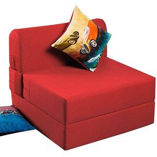 houzzcraft fling sofa cum bed in red