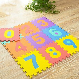 SHRIBOSSJI NUMBER PUZZLE MAT FOR KIDS  (10 Pieces)
