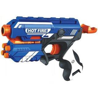 SHRIBOSSJI Blaze Storm Long and Safe Range Soft Dart Gun With 10 Soft Bullets (Multicolor)
