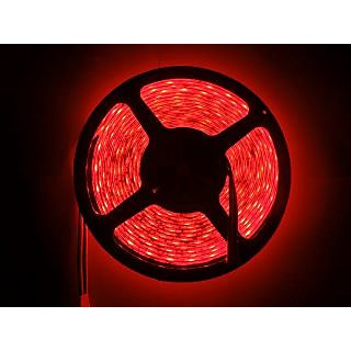 100 Waterproof Cuttable Red 5M Roll 3528 SMD LED Strip Light Home Car Hotel