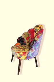 Upholstered Peacock chair