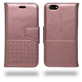 iPhone 7 Flip Cover  Ceego Luxuria Wallet Flip Case for iPhone 7 (Carnation Pink - Special Edition Color for Wome