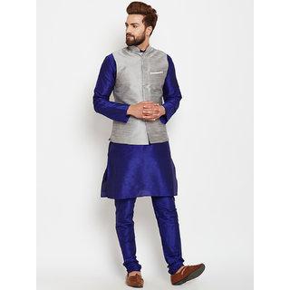 ABH Lifestyle Men's Silk Kurta Pyjama and Waistcoat Set