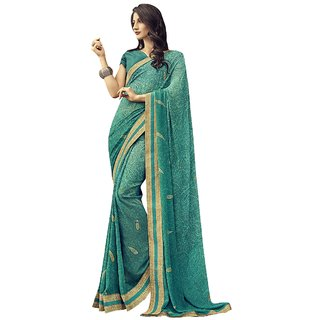 ed0a84d968 Buy Triveni Sea Green Georgette Casual Wear Printed Saree Online - Get 72%  Off