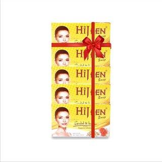 ETHIX Hijeen Sandal  Kesar Soap 75g  (375g, Pack of 5)