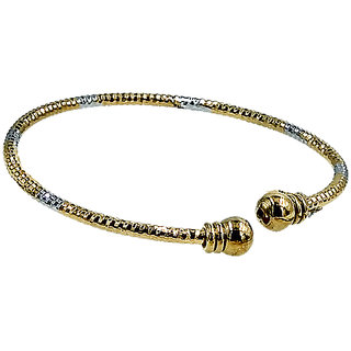 Alloy Gold Plated Adjustable Bangles For Girls And Women (Pack Of 2)
