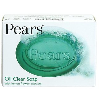 Pears Oil Clear With Lemon flower extracts Soap - 125g (Pack Of 3)