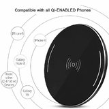 Japang Qi Wireless Charger For Samsung Galaxy S6 S6 Edge S7 S7 Edge S8 S8 Plus Note 8 Note 5
