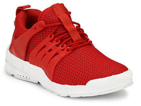 OORA Casual Shoes For Men Red Color office Party Wear Men's Laced Running Sports Shoes
