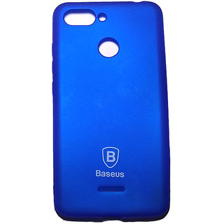 Blue Back Cover for RedMi 6 (Blue , Rubber)