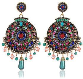 Youbella Jewellery Bohemian Multi-Colour Party Wear Earrings For Girls And Women