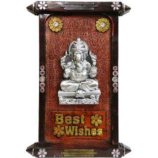 Ganesha God Idol Wall Hanging Photo Frame For Home / Office Decoration