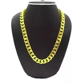 Styles Creation Men's Stylish Gold Plated Thick Chain Necklace (Artificial Jewellery)(ARTFLJWL06)