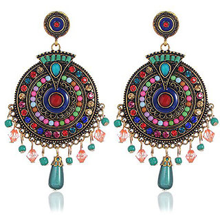 Youbella Jewellery Bohemian Multi-Colour Party Wear Earrings For Girls And Women