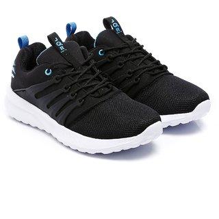 JQR Trending Style Black&Blue Light Weight Firm Grip Sports Shoes For Men