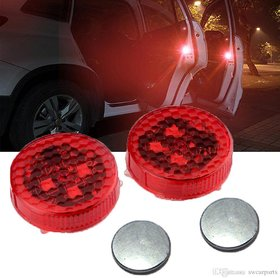 Universal 2 Wireless Car Door Lights With Red Strobe Flashing Led Door Open Safety Reflector (works with all cars)
