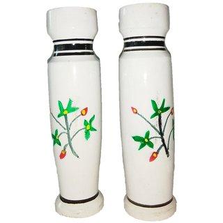 Lovely Choice Flower Vase Home Decor White Color