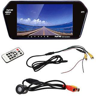 7 Inch Full HD USB LED Video Monitor Screen with Reverse Parking Camera (works with all cars)