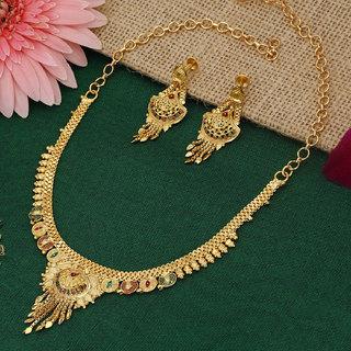 Sukkhi Stylish Gold plated Necklace Set for Women