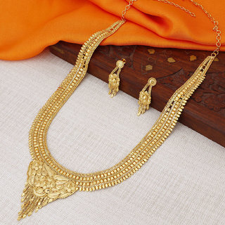 Sukkhi Incredible Gold plated Rani Haar Necklace Set for Women
