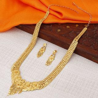 Sukkhi Lavish Gold plated Rani Haar Necklace Set for Women