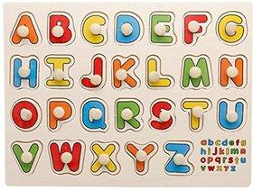 Shribossji Capital Alphabet Abc Wooden Puzzle For Kids