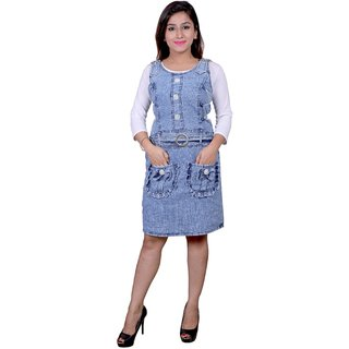 Future girl Denim Blue with front pocket Middy Top for Girls/Women
