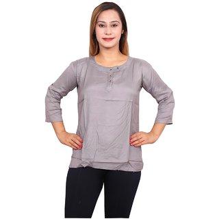 Future girl Cotton Grey Casual Wear Top for Girls/Women