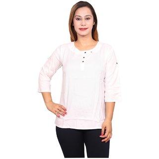 Future girl Cotton White Casual Wear Top for Girls/Women