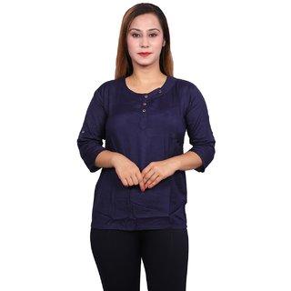 Future girl Cotton Blue Casual Wear Top for Girls/Women