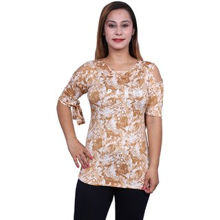 Future girl Printed Foan Casual Wear Top for Girls/Women