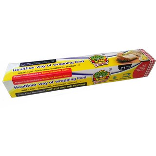 SHI Pap WRAP Food Wrapping Paper Roll of 21 Mtrs with Free Plantable Pencil Inside (12 inches x 21 mtrs) (2 Pcs)