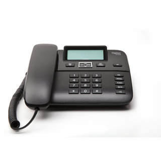 Gigaset DA260 Black Premium corded Telephone with caller id speakerphone