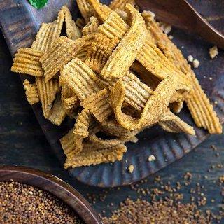 Evolve Snacks Raagi Chips 400 Gram ( Pack of 4 )