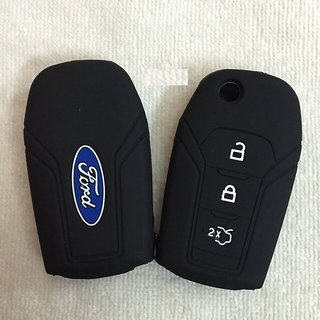 Ford Aspire Black Silicone Key Cover
