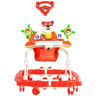 Kids Baby Walker And Rocker Deluxe With Assorted Animal Face Assorted Colour