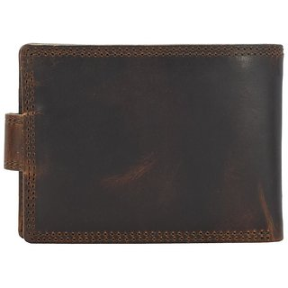 Annodyne Men's BROWN ELAS Genuine Leather Wallet_A523WM