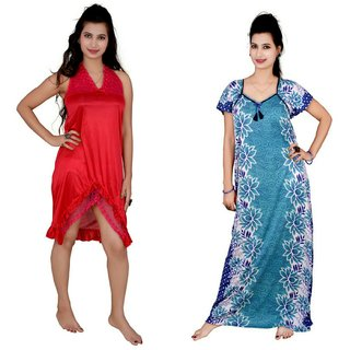 Buy Kismat Fashion Combo of Two Nighty Online - Get 73% Off d7b813926